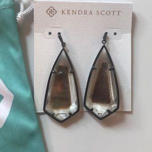 Kendra Scott Carla drop earrings Black Pearl Glass
